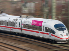 Comboio ICE da DB, com wi-fi enquanto se viaja a 300 Km/h