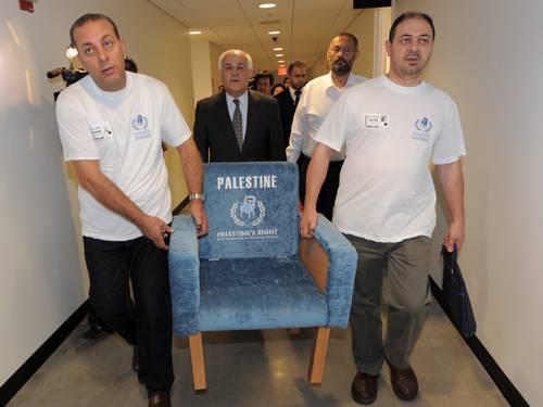 palestina cadeira onu
