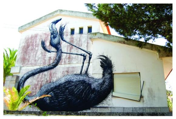ROA - flamingo - Lagos, Portugal