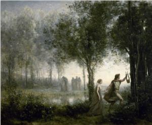orfeu euridice Jean-Baptiste Corot