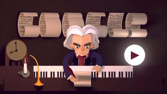 Beethoven doodle