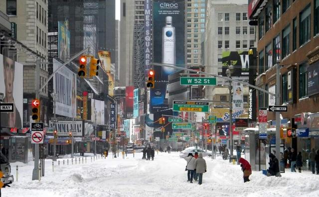 Nova York com neve