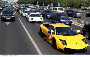 lamborghini-wedding-car-parade