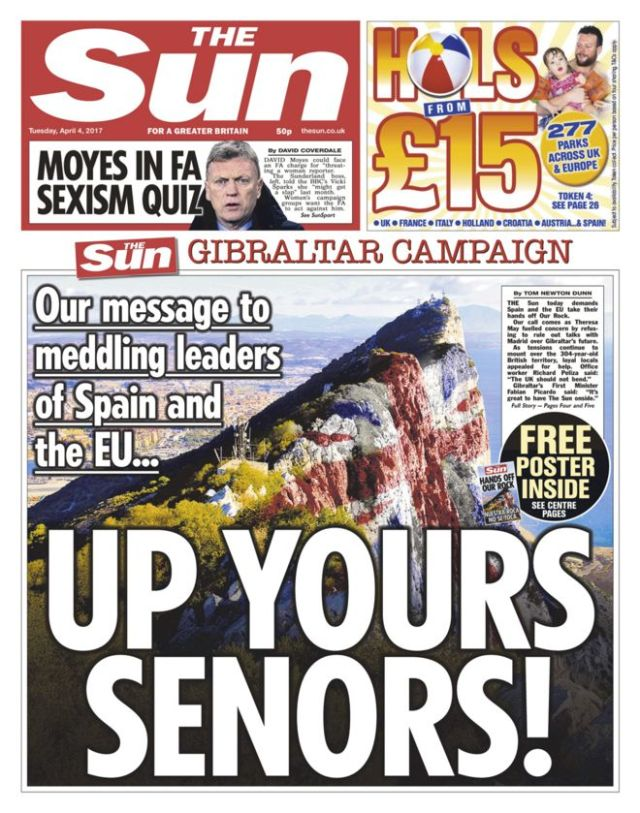 the-sun-gibraltar-up-yours